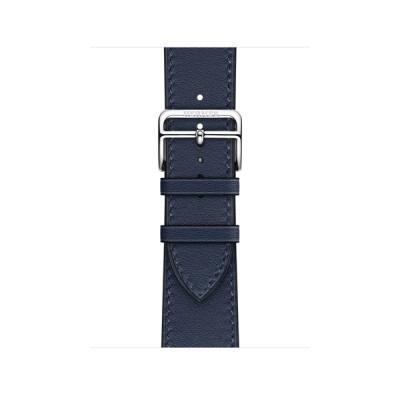 Apple Watch Hermès - 41mmケース用(ネイビー)シンプルトゥールレザーストラップ MKFN3FE/A