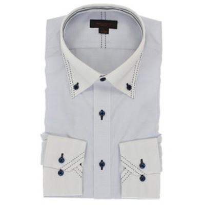 形態安定抗菌防臭スリムフィット マイターボタンダウン長袖ビジネスドレスシャツ/ワイシャツ