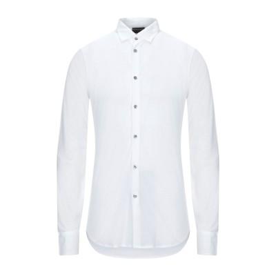 エンポリオ アルマーニ EMPORIO ARMANI シャツ ホワイト S コットン 50% / テンセル 50% シャツ