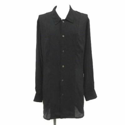 【中古】トリココムデギャルソン tricot COMME des GARCONS シアーシャツ ブラウス ロング シースルー 長袖 黒