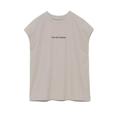 【ミラオーウェン】 グラフィックプリントTシャツ レディース ベージュ 1 Mila Owen
