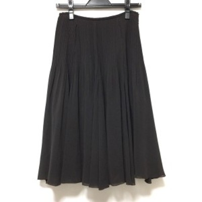 ランバンコレクション LANVIN COLLECTION ロングスカート サイズ38 M レディース - ダークブラウン プリーツ【中古】20210404