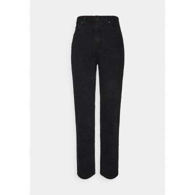 ヌーディージーンズ カジュアルパンツ レディース ボトムス BREEZY BRITT - Relaxed fit jeans - black worn
