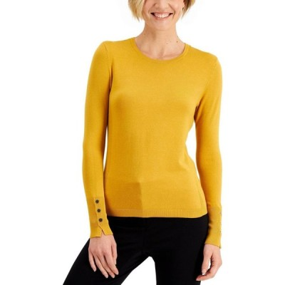 ジェイエムコレクション JM Collection レディース ニット・セーター トップス Petite Crewneck Sweater Golden Poppy