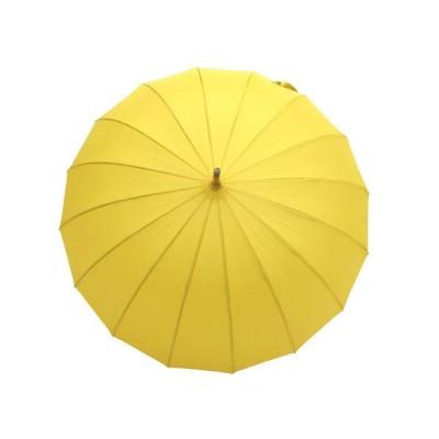 和傘 16本骨 ポンジージャンプ傘  からし(黄色)直径94cmのワイドサイズx1本/法人配送のみ/個人宅配送不可