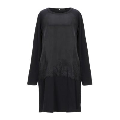TWINSET UNDERWEAR ミニワンピース&ドレス ブラック S キュプラ 58% / レーヨン 42% / コットン / ポリウレタン /