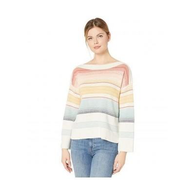 Pendleton ペンドルトン レディース 女性用 ファッション セーター Horizon Cotton Stripe Sweater - Chili Multi