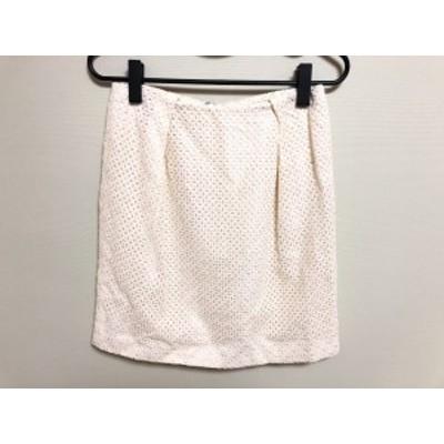 ジャスグリッティー JUSGLITTY スカート サイズ38 M レディース 美品 アイボリー レース【中古】