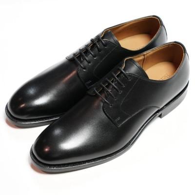 日本製グッドイヤーウエルト紳士靴 ショーンハイト 外羽根プレーントウ(SH111-4)ラバー底 黒