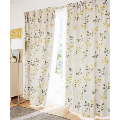シルエットリーフ柄カーテン ドレープカーテン(遮光あり・なし) Curtains, blackout curtains, thermal curtains, Drape(ニッセン、nissen)