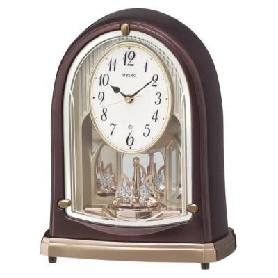 SEIKO セイコー 置き時計 スタンダード 電波時計 ツイン・パ (茶メタリック塗装) BY239B【お取り寄せ】