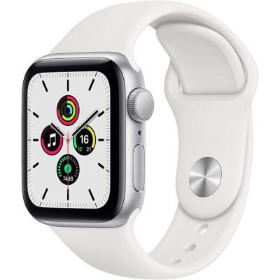 Apple Watch SE GPSモデル 40mm シルバーアルミケース スポーツバンド 白 MYDM2LL/A 新品 スマートウォッチ本体 1年保証