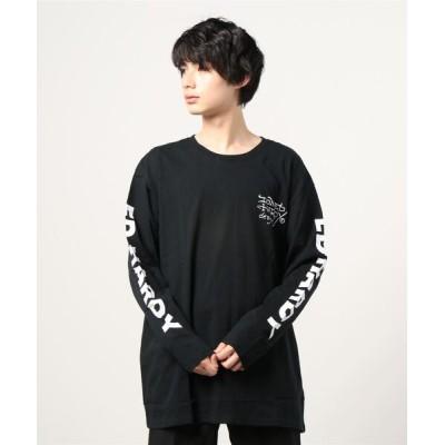 tシャツ Tシャツ 【Ed Hardy】プリント クルーネック 長袖 ロングTシャツ キングサイズ