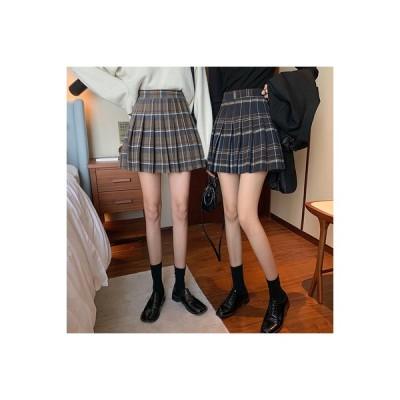 【送料無料】秋服 年 女 韓国風 学生 チェック柄のプリーツスカート 裾 ハイウエス | 364331_A63729-2665019