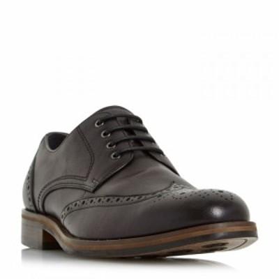 バーティ Bertie メンズ 革靴・ビジネスシューズ メダリオン チャンキーヒール シューズ・靴 Packman Eyelet Chunky Brogues Black