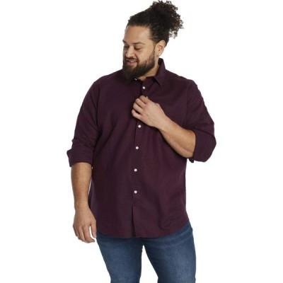 ジョニー ビッグ Johnny Bigg メンズ シャツ 大きいサイズ トップス Big & Tall Anders Linen Shirt Burgundy