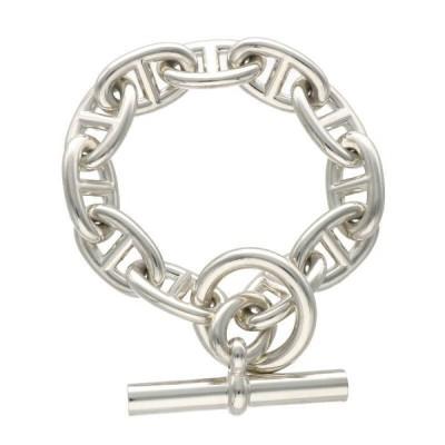 エルメス HERMES Chaine d'Ancre TGM サイズ:11LINK シェーヌダンクルTGMシルバーブレスレット 中古 OM10