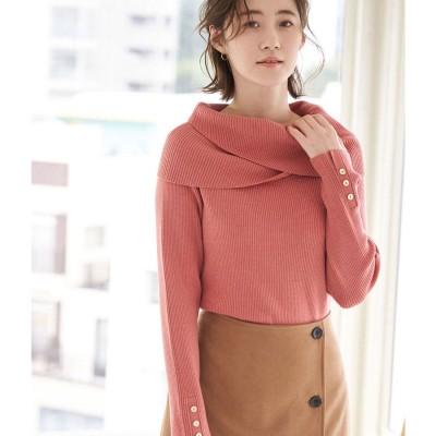 ロペピクニック ROPE' PICNIC ゆるっとした襟が大人可愛い。クロスオフショルダートップス (ピンク(63))