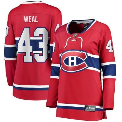 ファナティクス シャツ トップス レディース Jordan Weal Montreal Canadiens Fanatics Branded Women's Home Breakaway Player Jersey Red