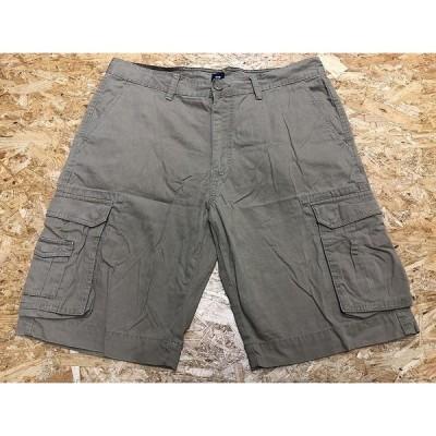GAP ギャップ サイズ35(EURサイズ) メンズ カーゴショーツ カーゴパンツ ショートパンツ ジップフライ 無地 綿100% ベージュカーキ系
