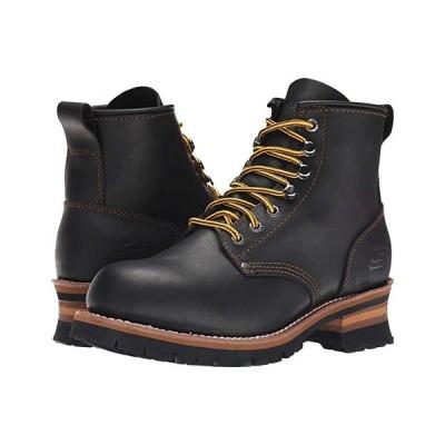 スケッチャーズ Cascades メンズ ブーツ Black Oily Leather