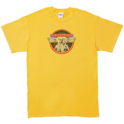 VAN HALEN 音楽・ロック・シネマ Tシャツ イエロー