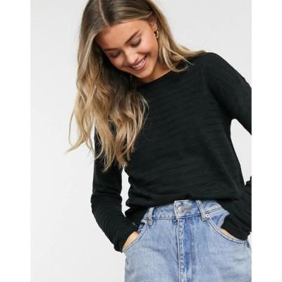 ジェイディーワイ JDY レディース ニット・セーター トップス Gadot long sleeve knitted jumper in black ブラック