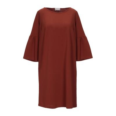 DONNAMEDEA ミニワンピース&ドレス 赤茶色 one size ポリエステル 95% / ポリウレタン 5% ミニワンピース&ドレス