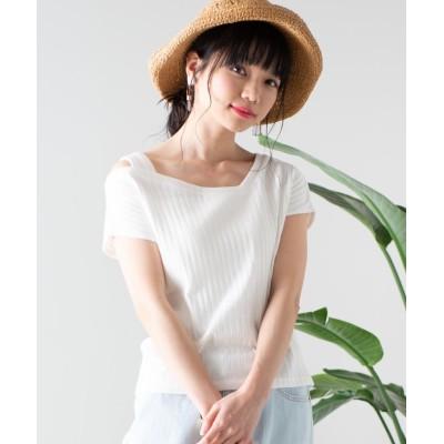 【ウィゴー】 WEGO/ワンショルダーリブTシャツ レディース ホワイト F WEGO