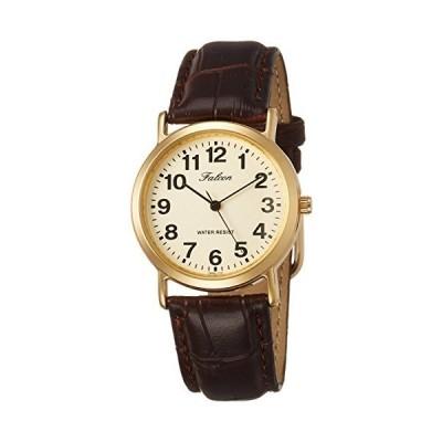 シチズン Q&Q 腕時計 アナログ 防水 革ベルト QA62-103 メンズ ブラウン
