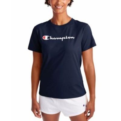 チャンピオン レディース シャツ トップス Plus Size Classic Logo Graphic T-Shirt Athletic Navy