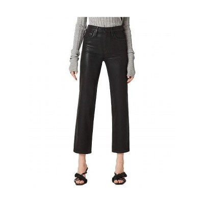Hudson Jeans ハドソン ジーンズ レディース 女性用 ファッション ジーンズ デニム Remi High-Rise Straight Cropped in High Shine Black - High Shine Black