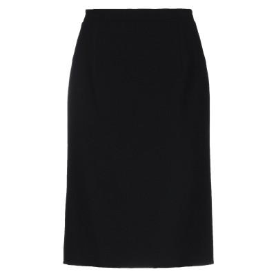 オスカー・デ・ラ・レンタ OSCAR DE LA RENTA ひざ丈スカート ブラック 10 バージンウール 95% / ナイロン 4% / ポリウ