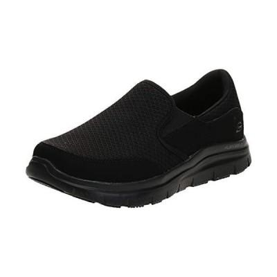 Skechers Men's Black Flex Advantage Slip Resistant Mcallen Slip On - 8.5 2E