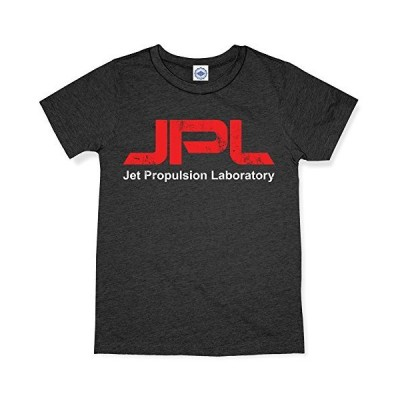 Hank Player U.S.A. NASA/JPL (Jet Propulsion Laboratory) Logo Men's T-Shirt (XL, Heather Charcoal)