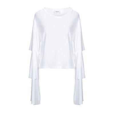 ドンダップ DONDUP T シャツ ホワイト XS レーヨン 88% / ナイロン 12% T シャツ