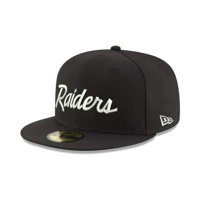 ニューエラ ユニフォーム トップス メンズ Oakland Raiders Retro Script 59FIFTY FITTED Cap Black/Red