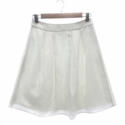 【中古】エニィスィス エニシス anySiS フレアスカート ひざ丈 3 白 ホワイト /KB レディース