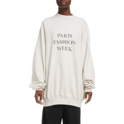 バレンシアガ BALENCIAGA レディース スウェット・トレーナー トップス Paris Fashion Week Oversize Sweatshirt Cement Grey/Black