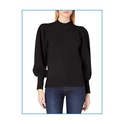 French Connection Women's Flossy Long Sleeve Loose Fit Solid Pullover Sweater, Black, S【並行輸入品】