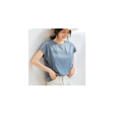 Tシャツ トップス レディース カットソー ブラウス 無地 シンプル カジュアル ラウンドネック 半袖 コットン 4色展開 ゆったり モノトーン