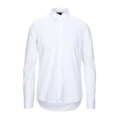エンポリオ アルマーニ EMPORIO ARMANI シャツ ホワイト M コットン 72% / ナイロン 24% / ポリウレタン 4% シャツ