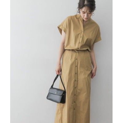 URBAN RESEARCH ROSSO/アーバンリサーチ ロッソ F by ROSSO ウエスト切替ロングシャツワンピース CAMEL FREE