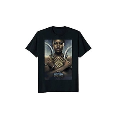 並行輸入品 Marvel Black Panther Avengers Nakia Poster Graphic T-Shirt