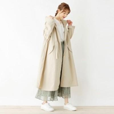 シューラルー(レディス)(SHOOLARUE Ladies)/【M-3L撥水手洗い可】ライトロングモッズコート