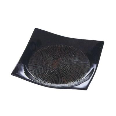 中皿 正角5.5皿 天目乱麻 17cm 和食器 美濃焼 業務用 9b137-18
