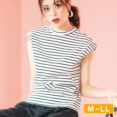 Ranan 【M~LL】リブハイネックカットソー  M レディース