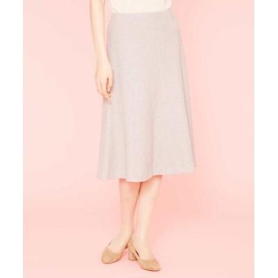 Sybilla/シビラ デザインジャージーツイードスカート ライトグレー 40