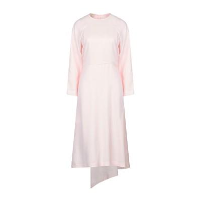 セドリック シャルリエ CEDRIC CHARLIER 7分丈ワンピース・ドレス ピンク 44 レーヨン 100% 7分丈ワンピース・ドレス