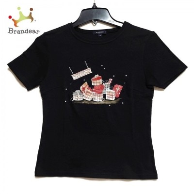 バーバリーロンドン Burberry LONDON 半袖Tシャツ サイズ40 L レディース - 黒×レッド×マルチ 新着 20210330